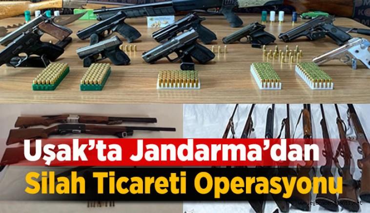 Uşak'ta Jandarma Ekiplerinden Silah Kaçakçılığı Operasyonu